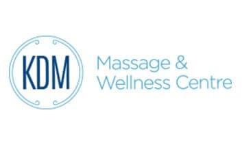 KDM Massage Wellness Logo