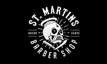 St Martins Barber Shop Logo